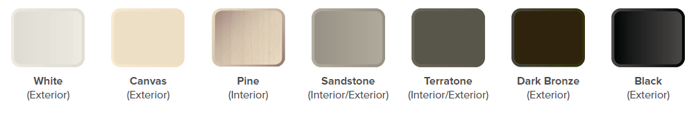 French Hinged Patio Door Color Palette