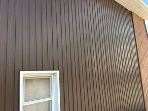 Vertical siding on home.