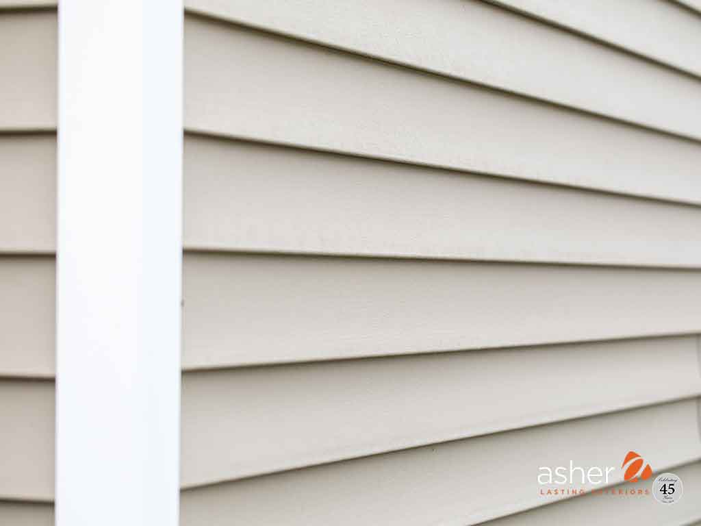Siding of home