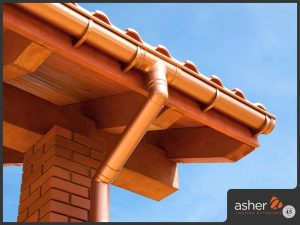 Seamless gutter system of home