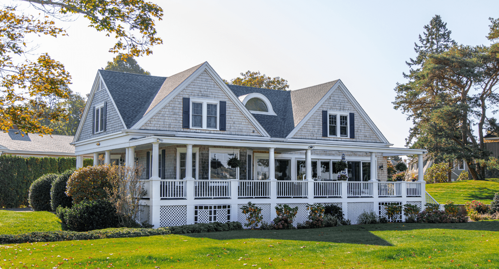 Beautiful home with eye-catching exterior window trim