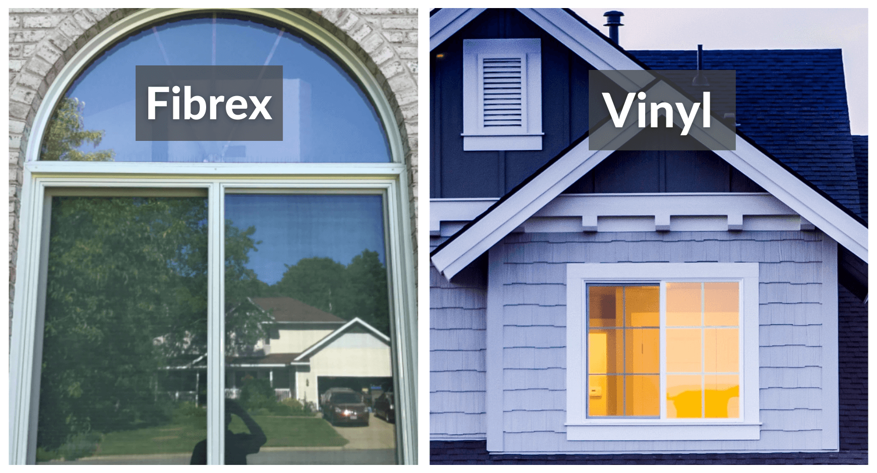 Side by side comparison of Fibrex and Vinyl