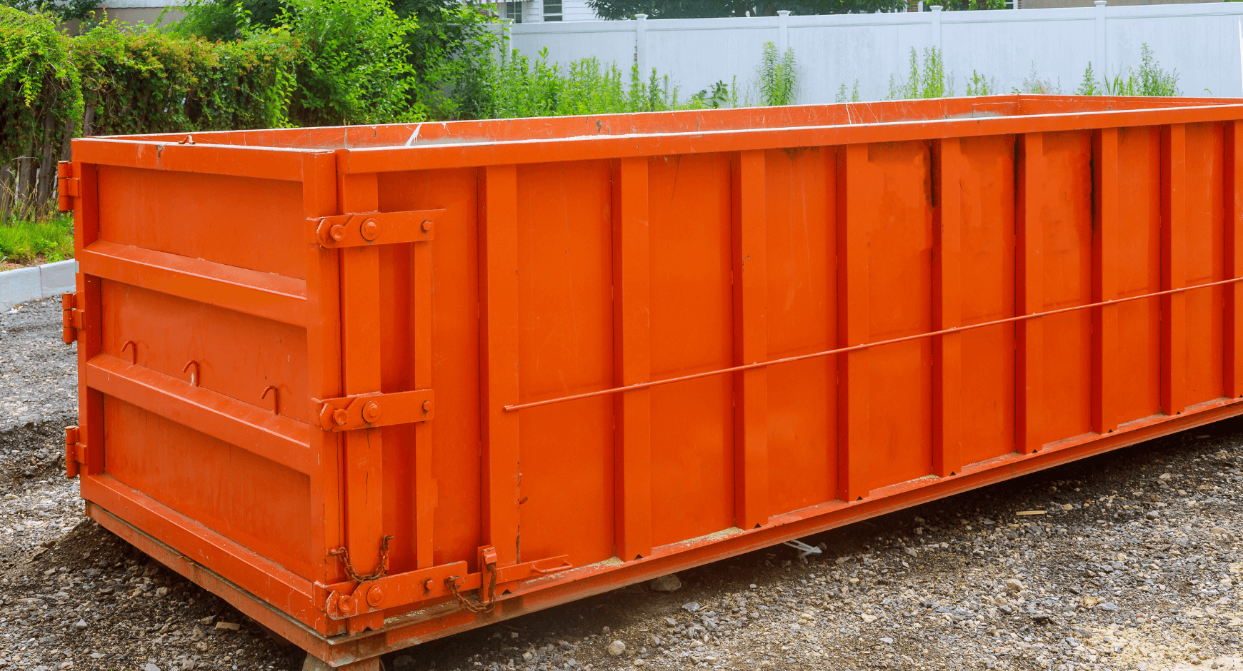 Image of a dumpster used for replacement window installation