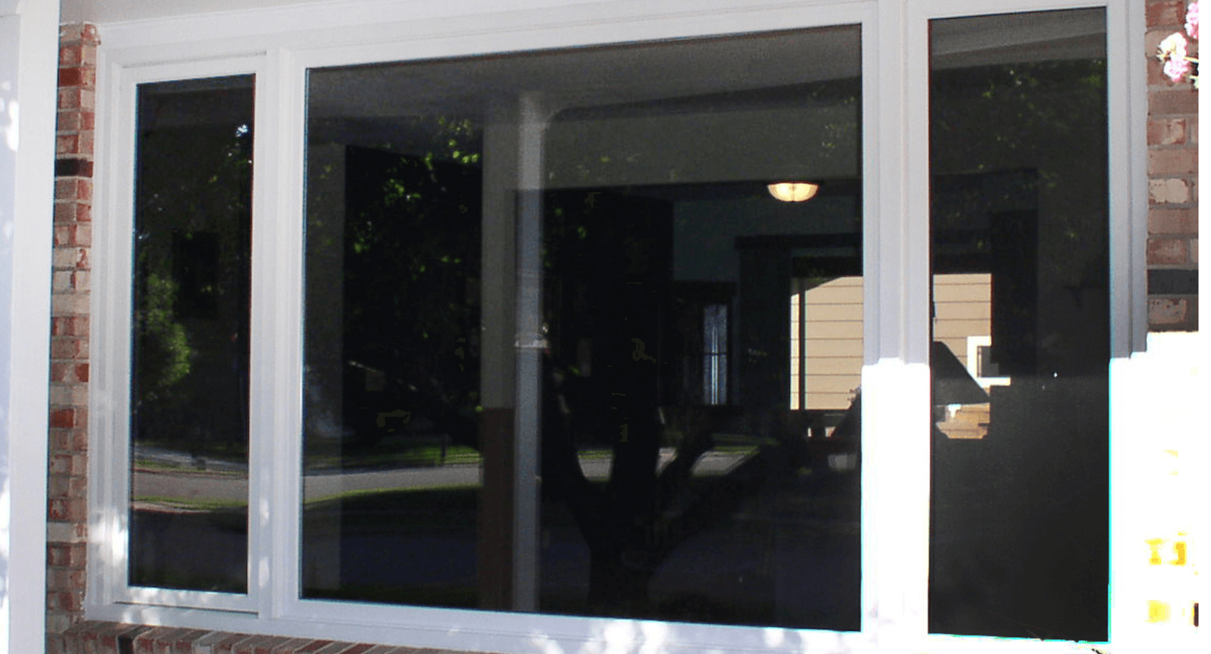 Image of a picture window from the outside